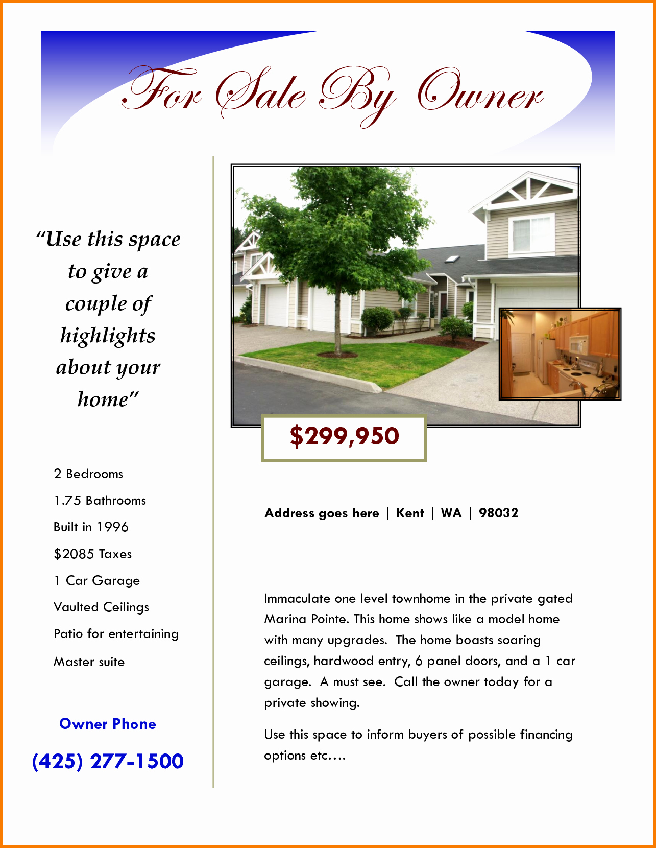 For Sale Template Word Best Of for Sale Flyer Template