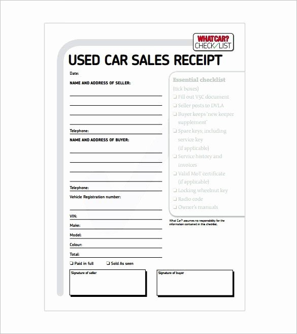 For Sale Word Template Awesome Car Sale Receipt Receipt Template Doc for Word