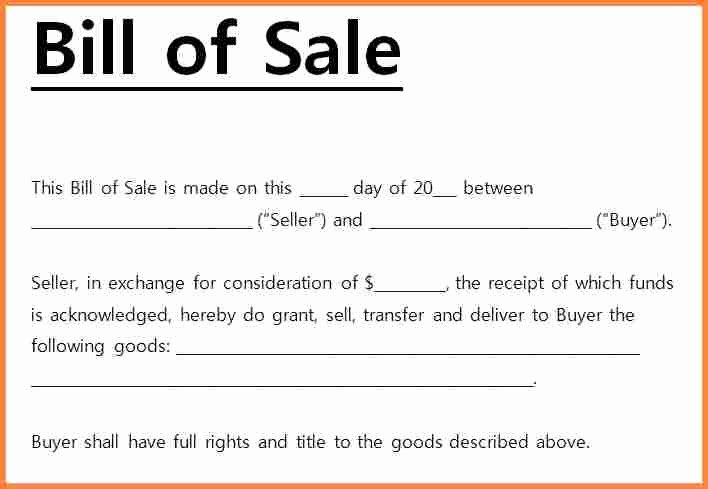 For Sale Word Template Luxury Bill Of Sale Receipt Carbonterialwitness