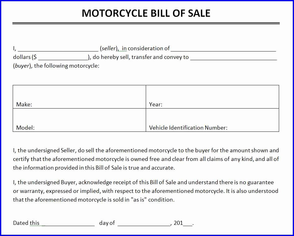 For Sale Word Template Luxury Motorcycle Bill Of Sale Template Ms Word Templates Ms