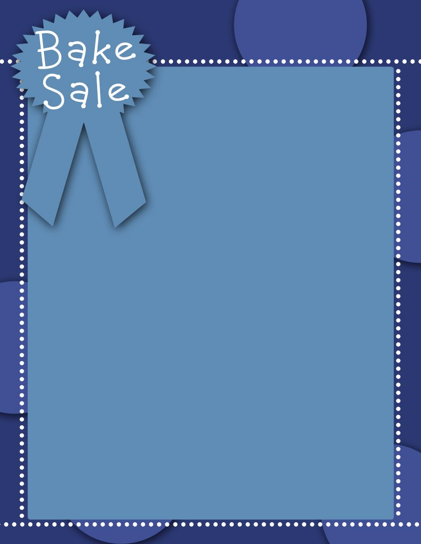 For Sale Word Template New Craft Salebake Sale Flyer Templates