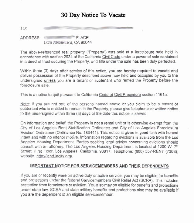 Foreclosure Letter Templates Beautiful foreclosure Letter Template and Eviction Notice Template