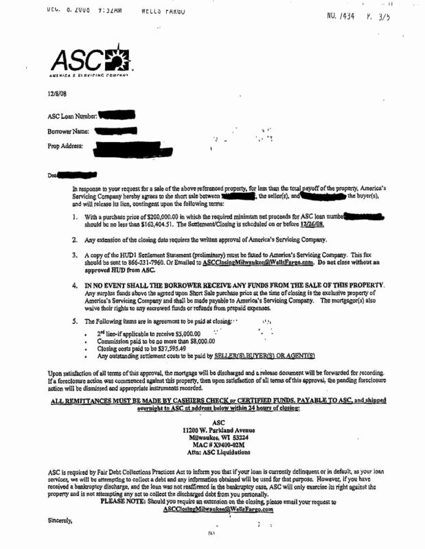 Foreclosure Letter Templates Beautiful Lender Short Sale Acceptance Letter Examples Read with