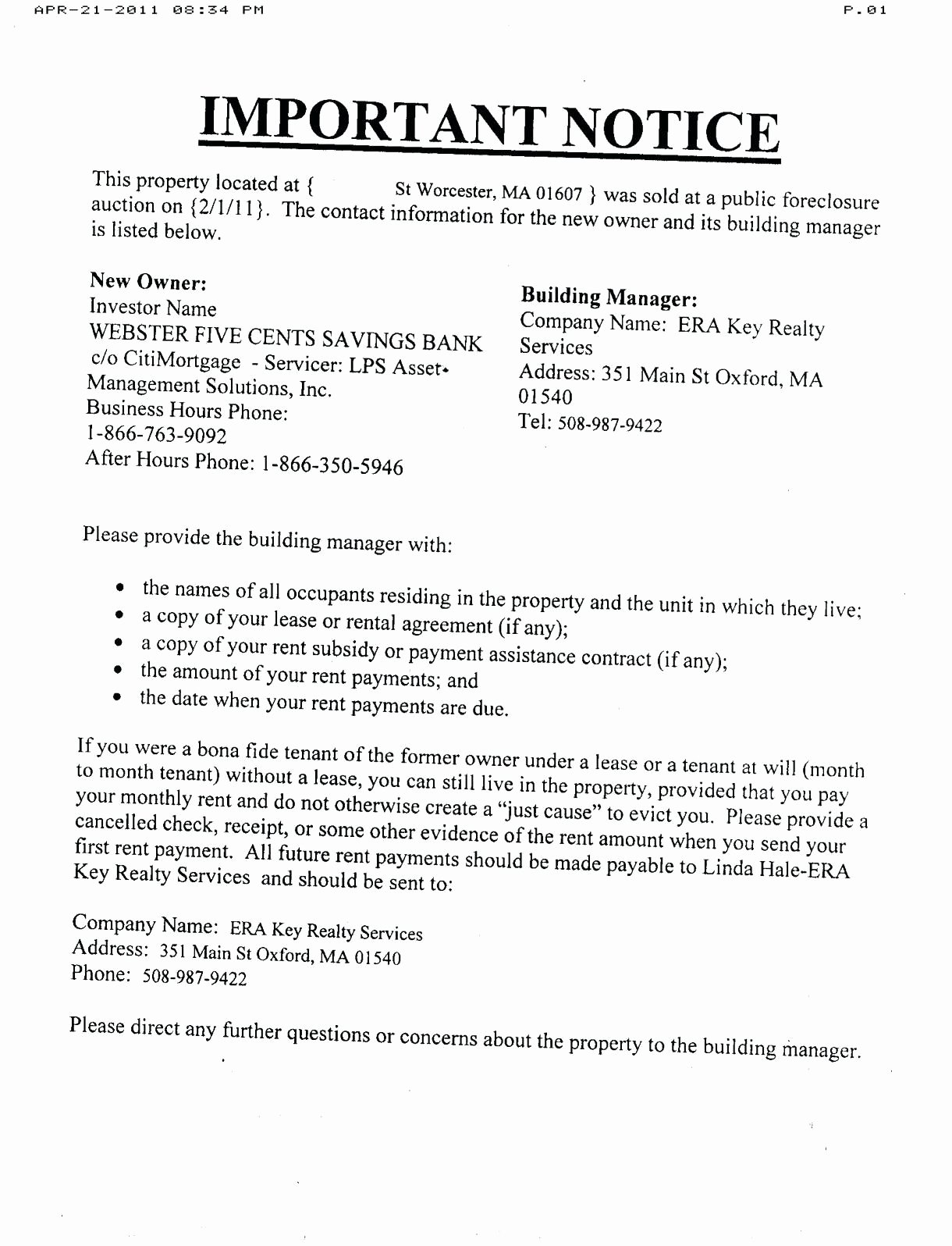 Foreclosure Letter Templates Inspirational Free foreclosure Letter Template Collection