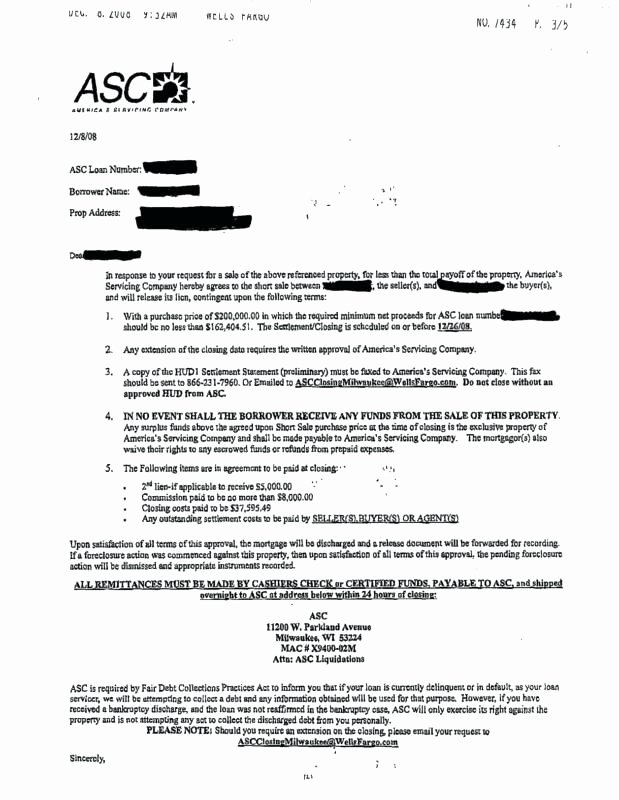 Foreclosure Letter Templates Luxury Acceptance Letter Short Sale Hardship Template Templates