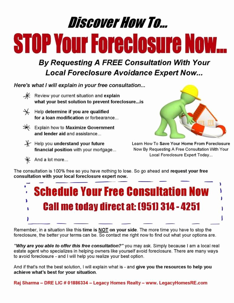 Foreclosure Letter Templates Unique Pre foreclosure Letters to Homeowners