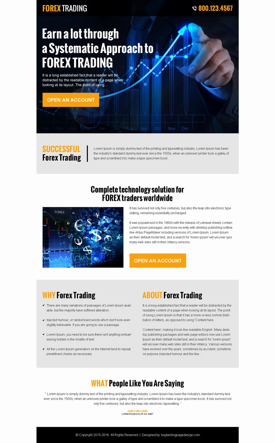 Forex Trading Plan Template Unique forex Trading Landing Pages 2015 for Best Conversion & Sales