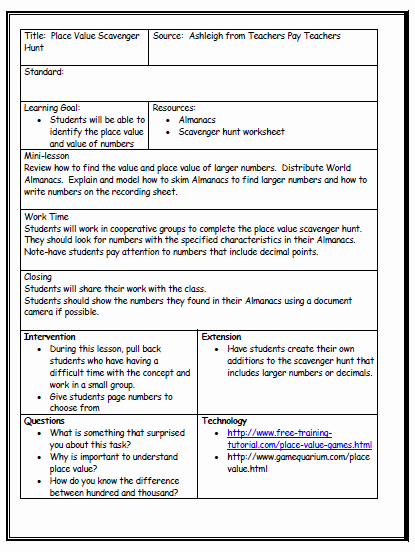 Formal Lesson Plan Template Beautiful Lesson Plan format On Pinterest
