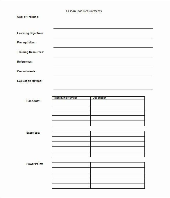 Formal Lesson Plan Template Luxury 9 Lesson Plan Outline Templates Doc Pdf