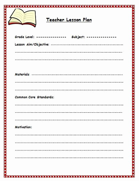 Formal Lesson Plan Template New Free Lesson Plan Template