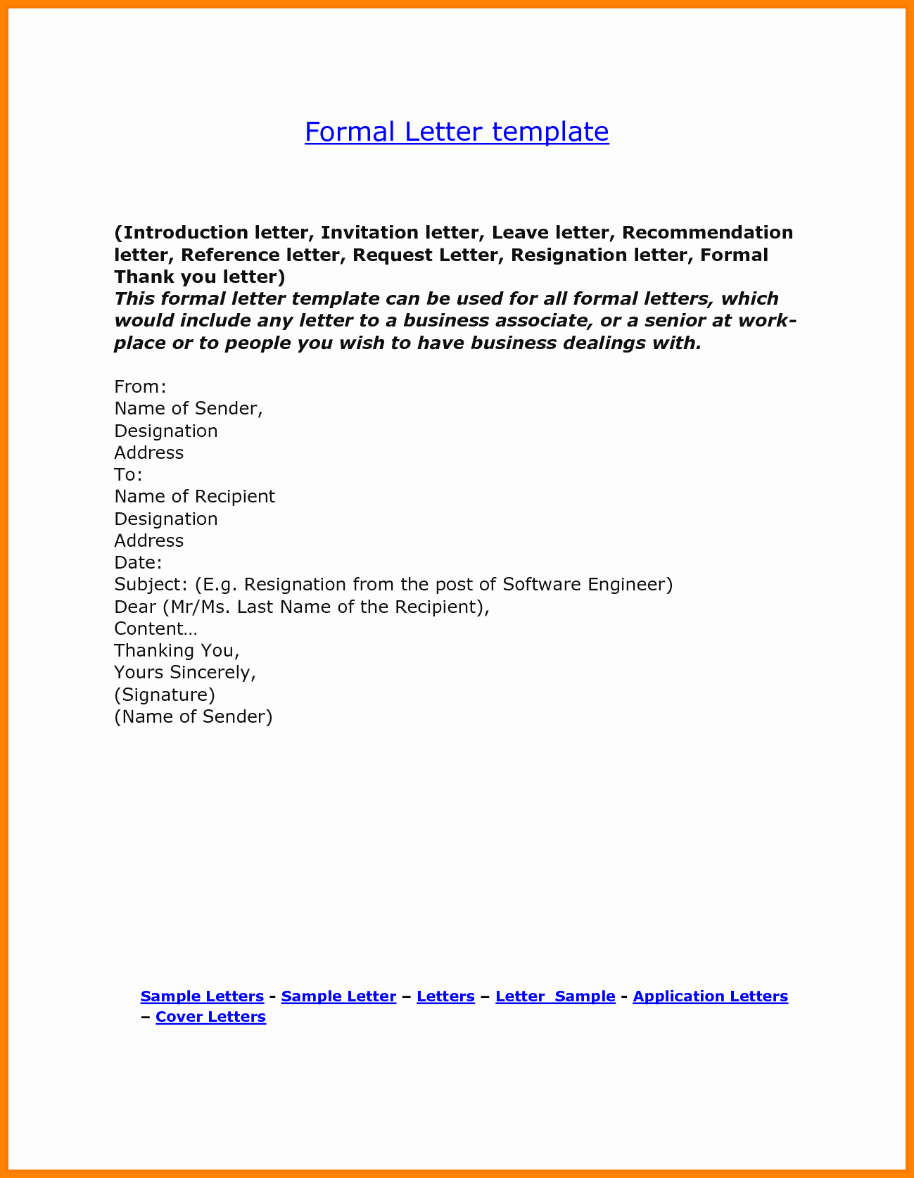Formal Letter format for Request Beautiful 5 How to Write A formal Statement