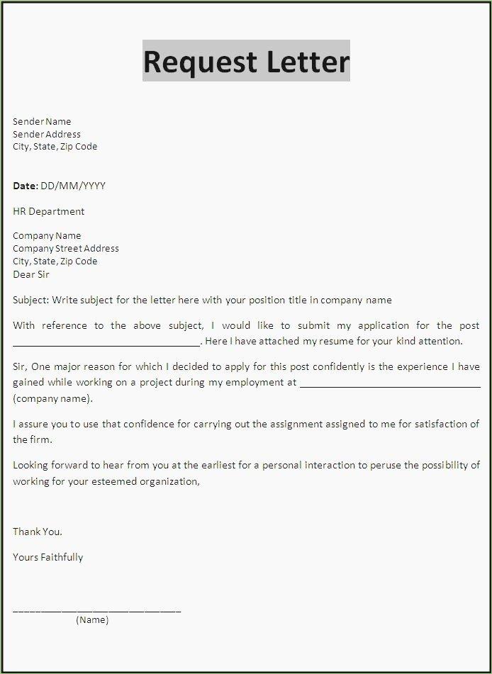 Formal Letter format for Request Unique 15 formal Request Letter for Documents