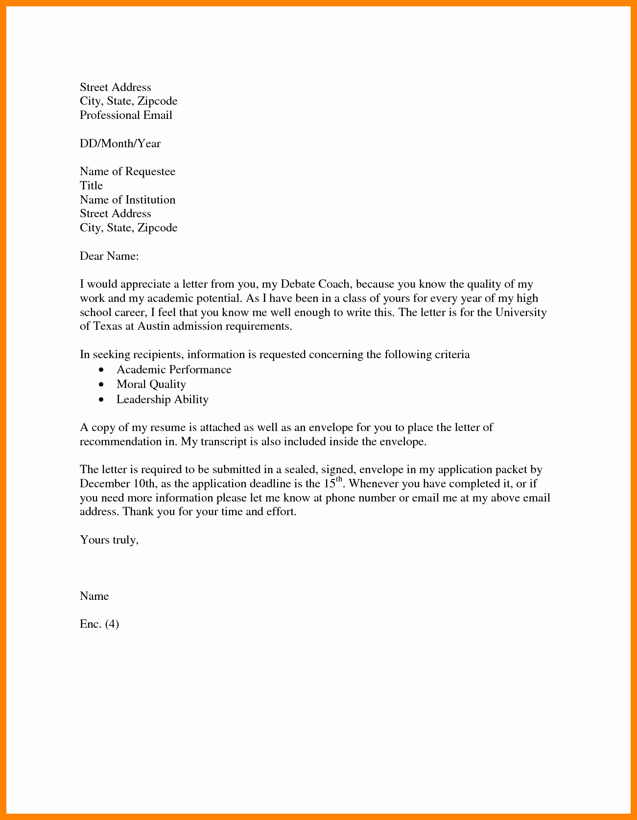 Formal Letter format for School Inspirational formal Letter format for School