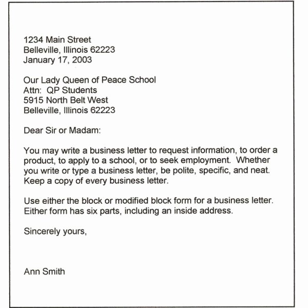 Formal Letter format for School Lovely Best 25 formal Business Letter format Ideas Pinterest