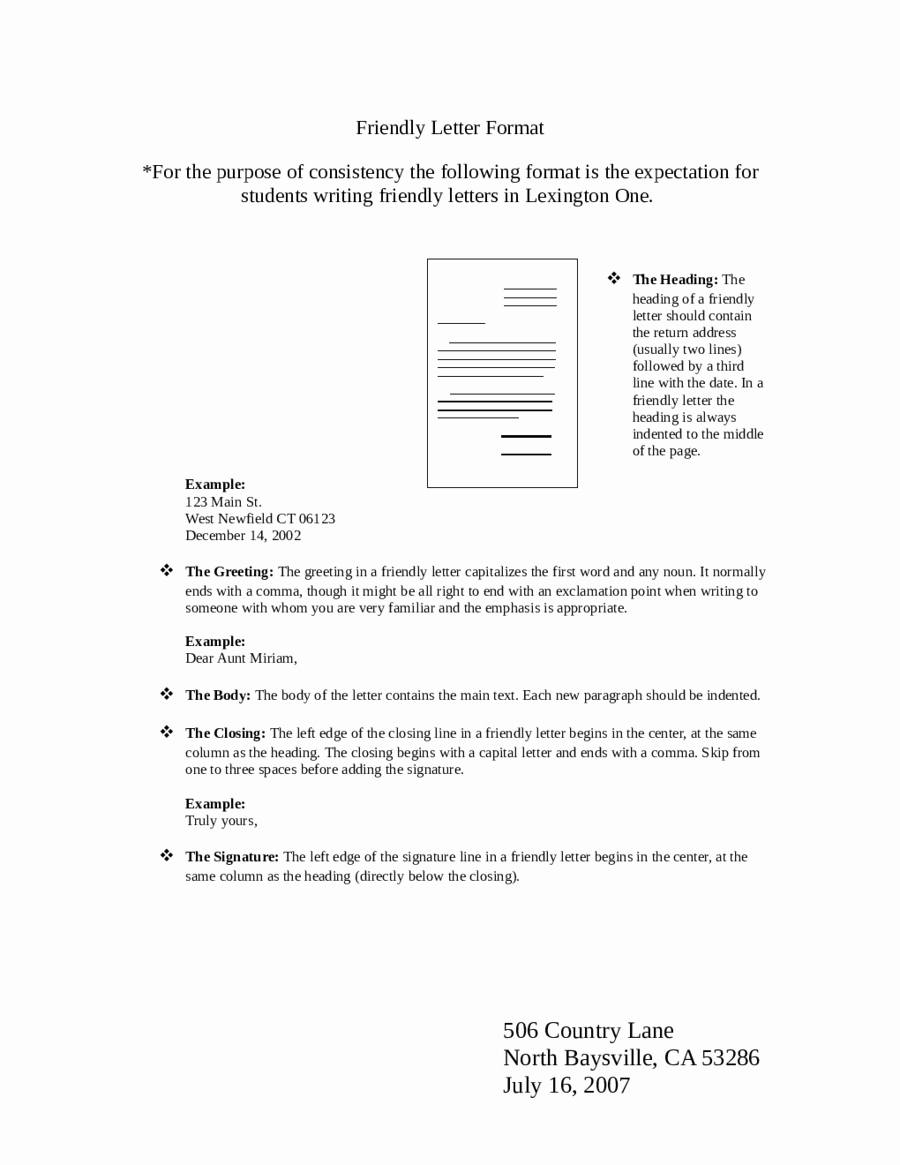 Format Of A Friendly Letter Awesome 2019 Friendly Letter format Fillable Printable Pdf