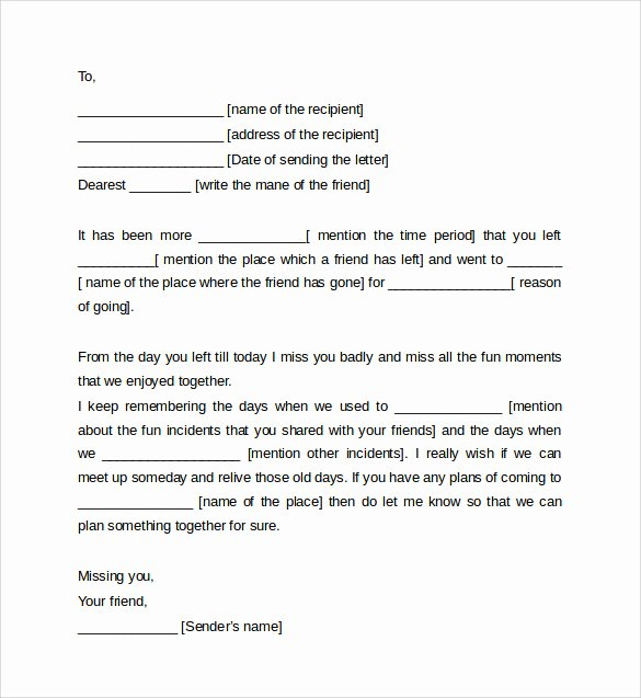 Format Of A Friendly Letter Beautiful 8 Friendly Letter format Samples