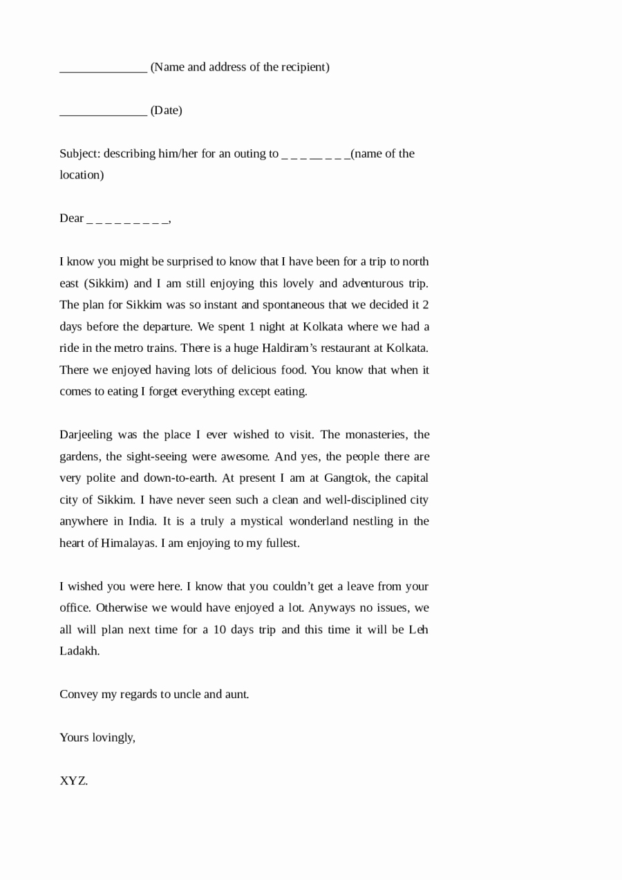 Format Of A Friendly Letter Elegant 2019 Friendly Letter format Fillable Printable Pdf
