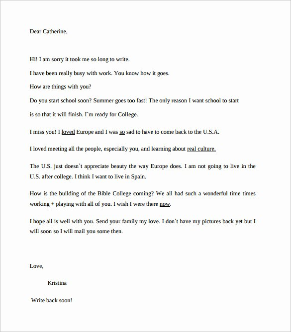 Format Of A Friendly Letter Elegant 8 Friendly Letter format Samples