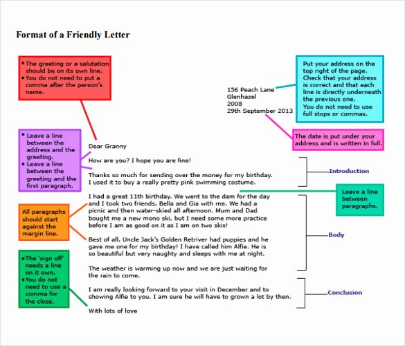 Format Of A Friendly Letter Lovely 49 Friendly Letter Templates Pdf Doc