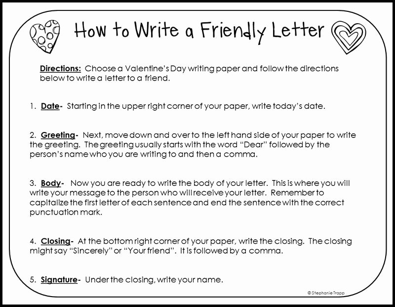 Format Of A Friendly Letter Unique How to Write A Friendly Letter Free Printables