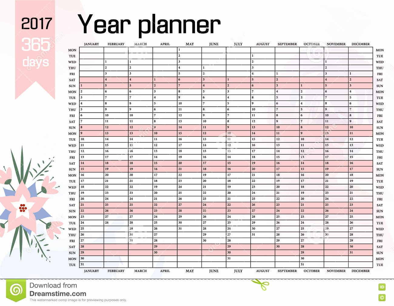 Four Year Plan Template Excel Elegant Year Wall Planner Plan Out Your whole with This 2017