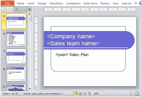 Four Year Plan Template Fresh Yearly Sales Plan Templates for Powerpoint