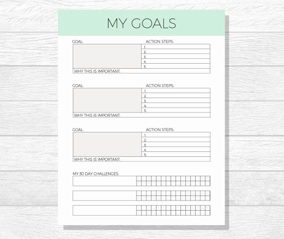 Four Year Plan Template Inspirational 25 Unique Goals Template Ideas On Pinterest