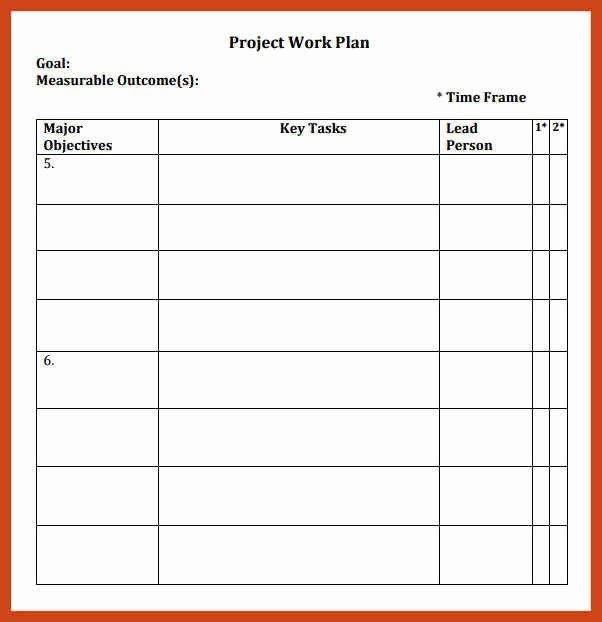 Four Year Plan Template Ucsd Luxury Simple Work Plan Template In Microsoft Excel Templates