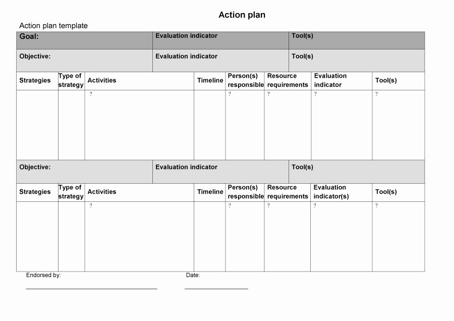 Free Action Plan Template Awesome 45 Free Action Plan Templates Corrective Emergency