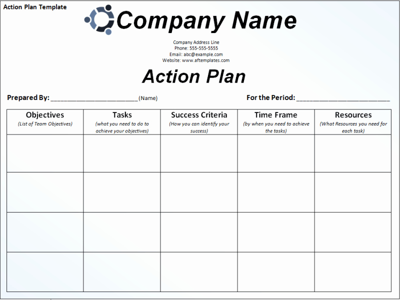 Free Action Plan Template Lovely Free Action Plan Template