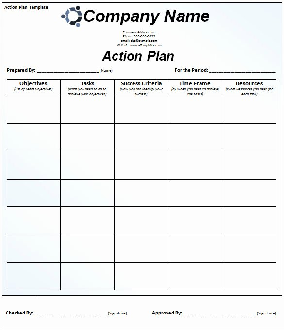 Free Action Plan Template Unique 85 Action Plan Templates Word Excel Pdf