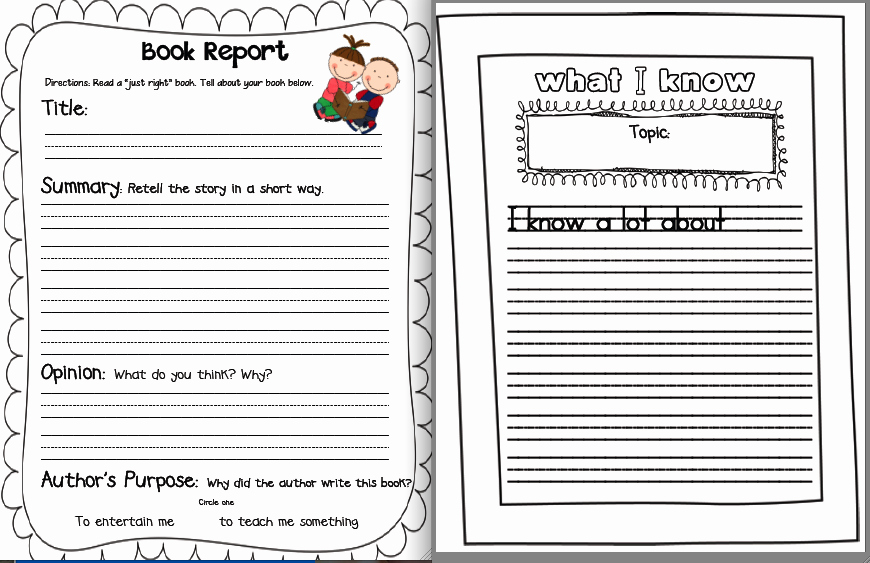 Free Book Writing Template Best Of Sarah S First Grade Snippets May Literacy Menu Posted