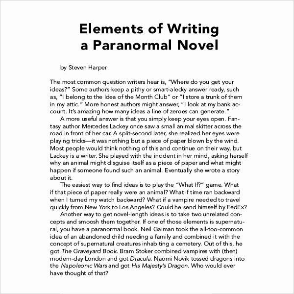 Free Book Writing Template Elegant 12 Book Writing Templates – Free Sample Example format