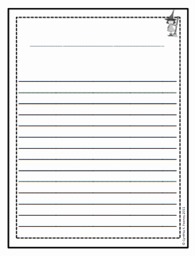 Free Book Writing Template Elegant Third Grade Writing Paper with Borders
