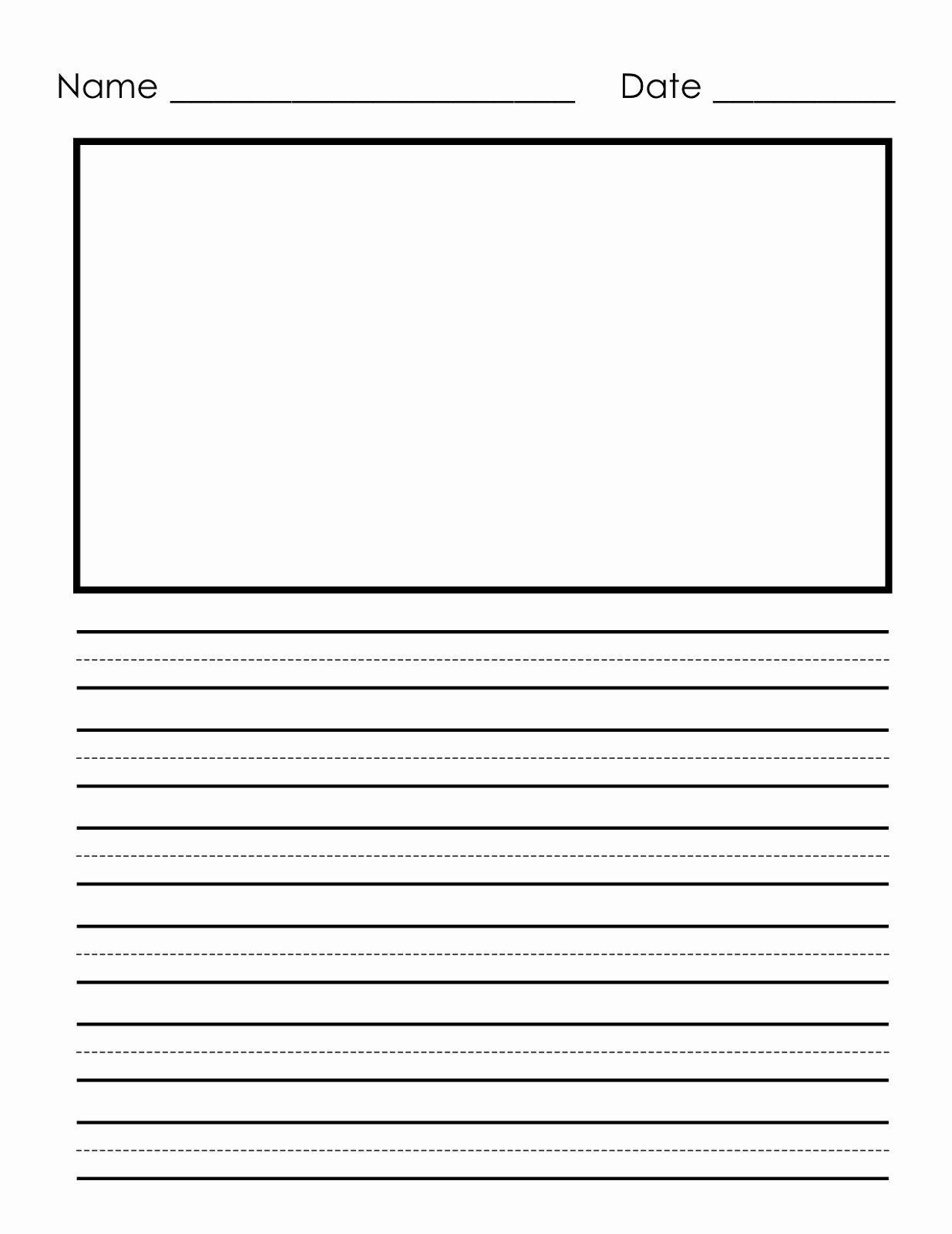Free Book Writing Template Elegant Writing Paper Printable for Children