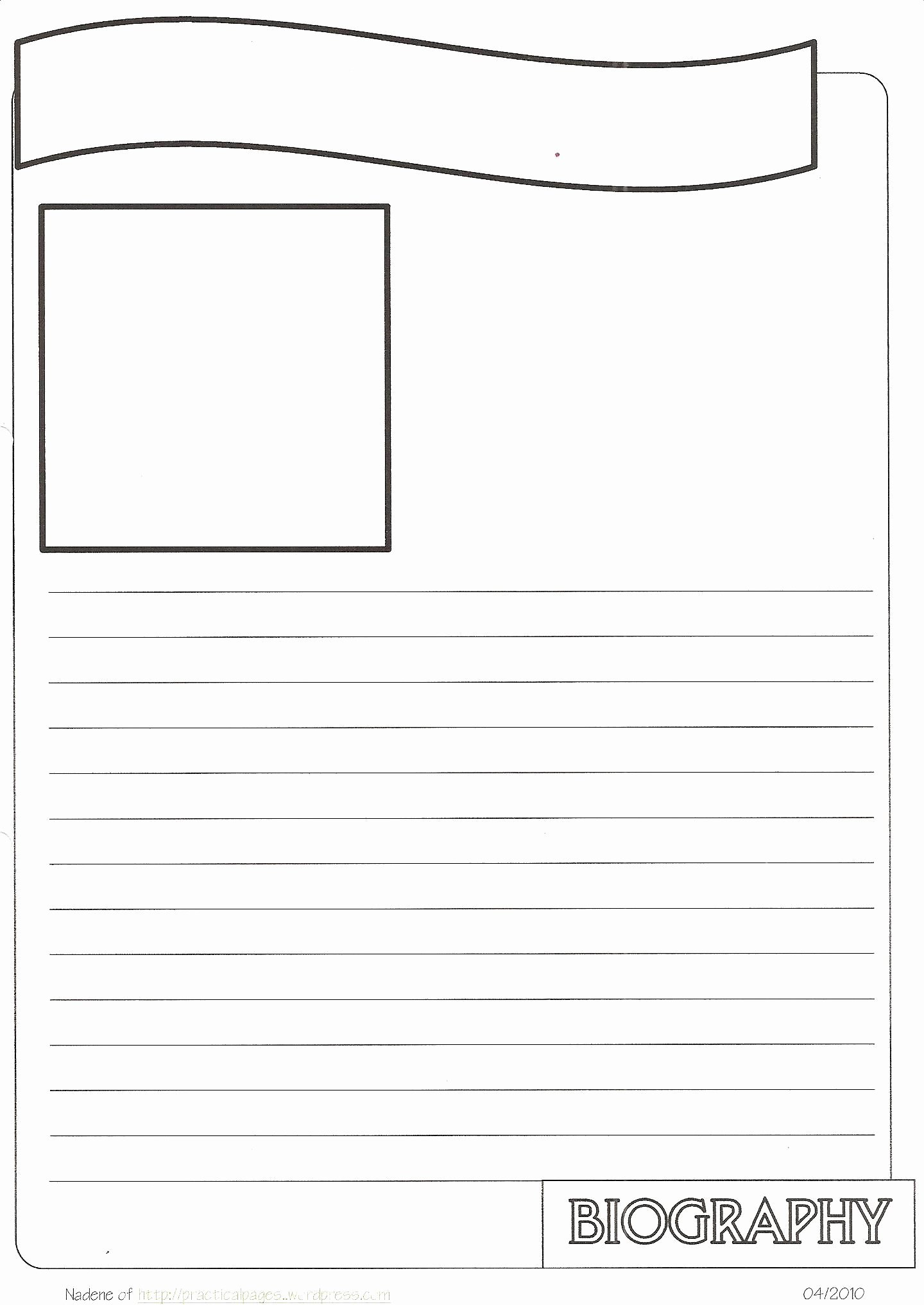 Free Book Writing Template Luxury New Biography Notebook Page Templates