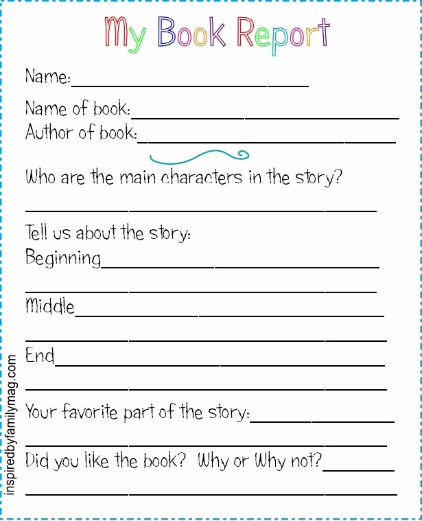 Free Book Writing Template New Printable Book Report forms Elementary
