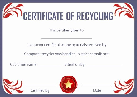Free Certificate Of Destruction Template Awesome 8 Free Customizable Certificate Of Destruction Templates