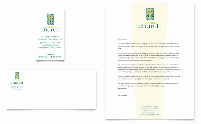 Free Church Security Plan Template Best Of Christian Church Business Card & Letterhead Template