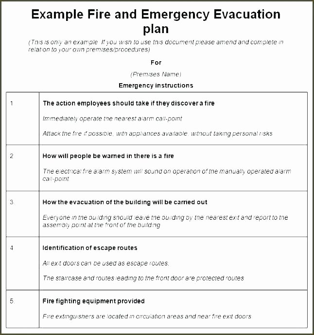 Free Church Security Plan Template Inspirational Plan Template Emergency Action Beautiful Evacuation