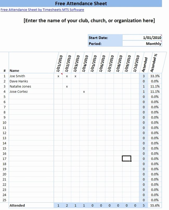 Free Church Security Plan Template Lovely 36 General attendance Sheet Templates In Excel Thogati