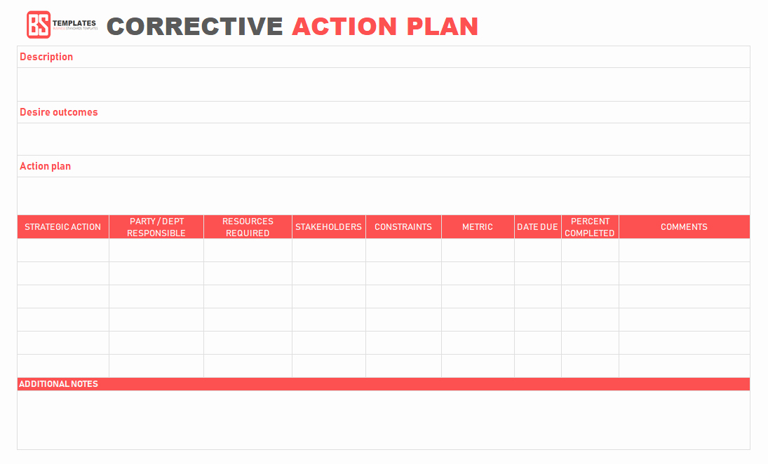 Free Corrective Action Plan Template Elegant Action Plan Templates – Free Templates [word