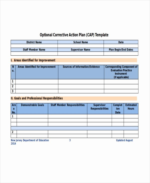 Free Corrective Action Plan Template Unique Action Plan Template 14 Free Word Pdf Document