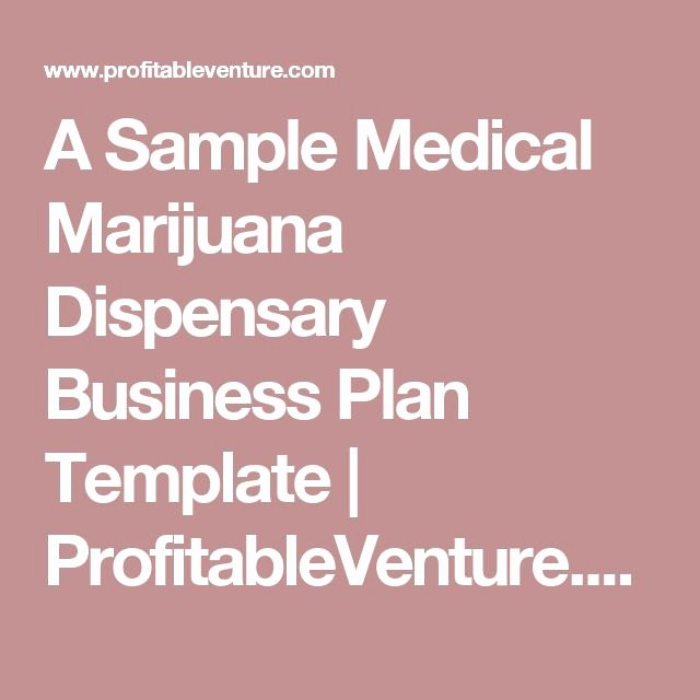 Free Dispensary Business Plan Template Best Of 17 Best Ideas About Business Plan Template On Pinterest