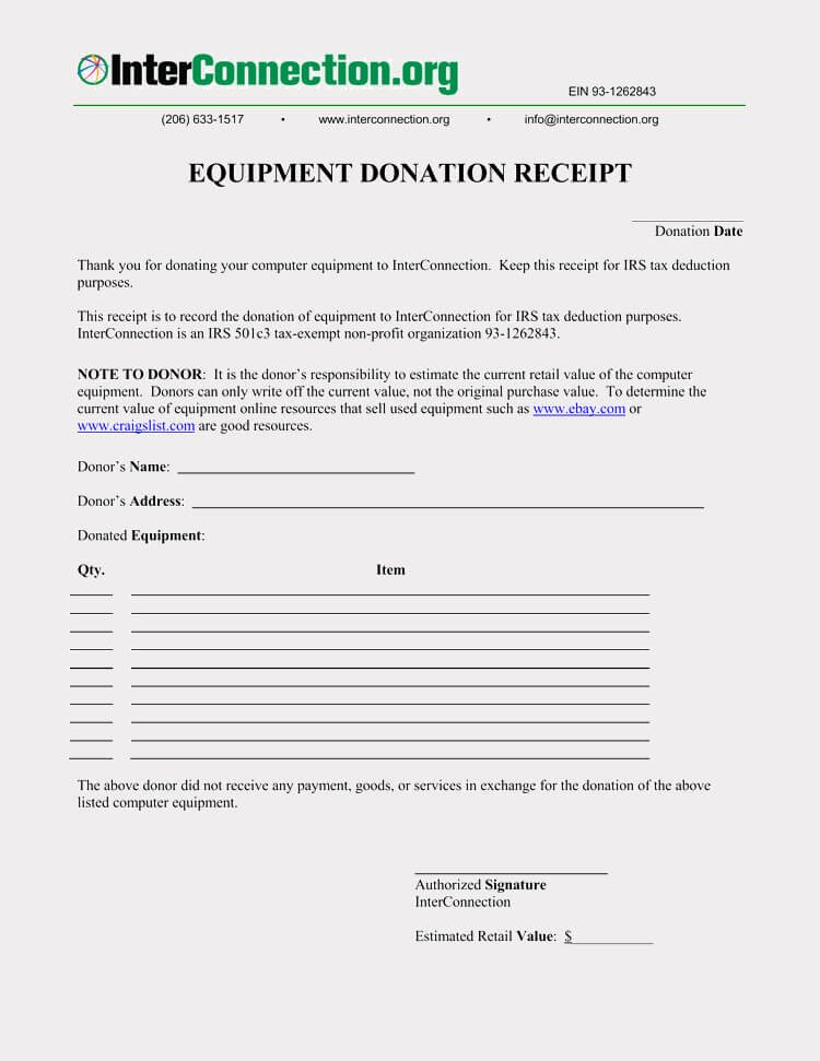 Free Donation Receipt Template Beautiful 45 Free Donation Receipt Templates & formats Docx Pdf
