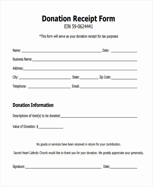 Free Donation Receipt Template Best Of 11 Donation Receipt form Sample Free Sample Example
