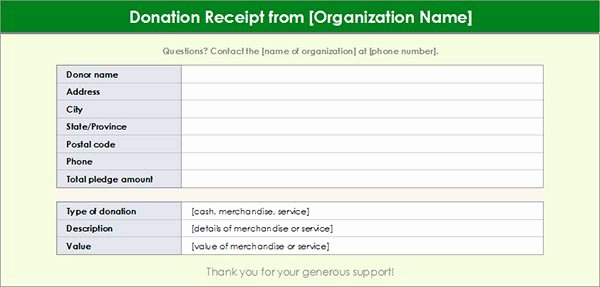 Free Donation Receipt Template Best Of Charitable Donation Receipt Template Free Download Aashe