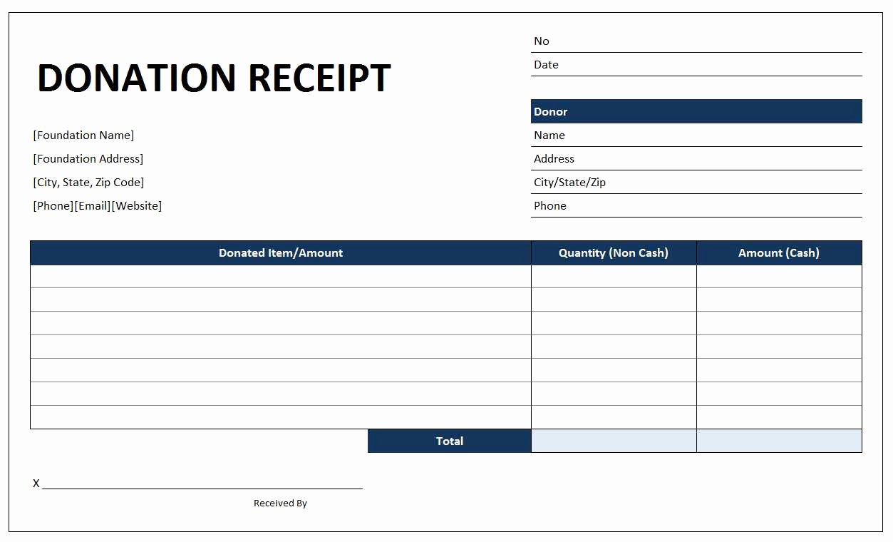 Free Donation Receipt Template Best Of Donation Receipt Template Free Excel Templates and