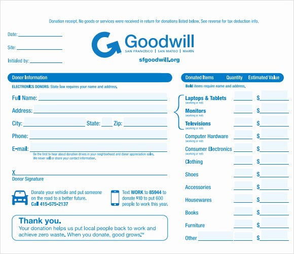 Free Donation Receipt Template Elegant 10 Donation Receipt Templates – Free Samples Examples