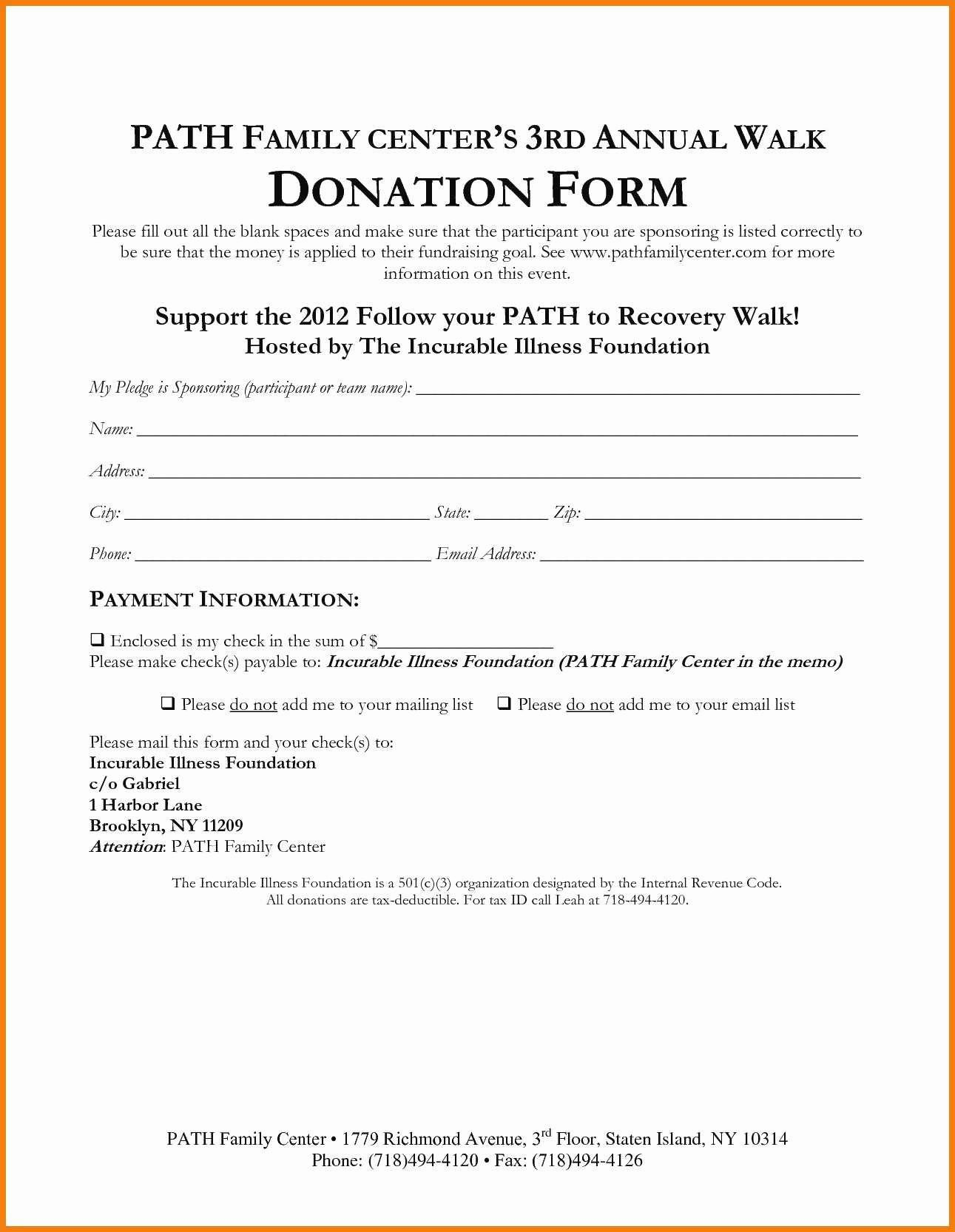 Free Donation Receipt Template Elegant Fresh Charitable Donation form Receipt